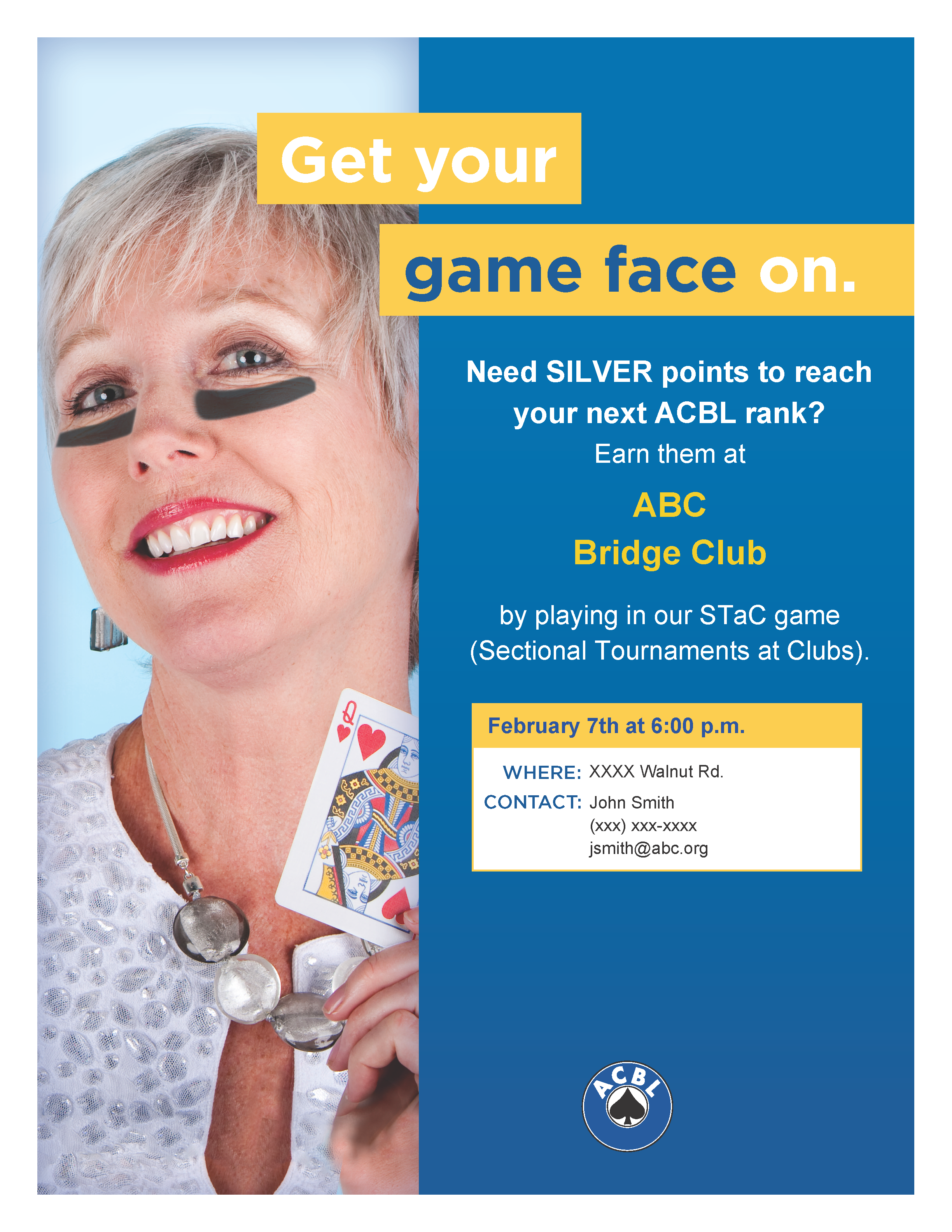 Use your Game Face to promote bridge